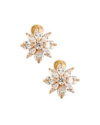 Fragments For Neiman Marcus Mixed Cut Cz Flower Stud Earrings Gold