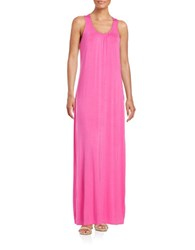 Lord And Taylor Ruched Maxi Dress Zinnia