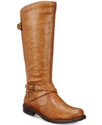 Bare Traps Corrie Wide Calf Riding Boots Women's Shoes Light Brown