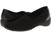 Munro American Traveler Black Stretch Fabric Women's Slip On Shoes