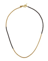 Armenta Two Tone Chain Link Collar Necklace Small