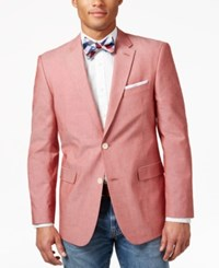 Tommy Hilfiger Red Chambray Classic Fit Sport Coat
