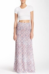 Lily White Printed Maxi Skirt Juniors Red