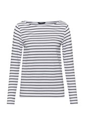 French Connection Tim Tim Long Sleeve Striped Top White