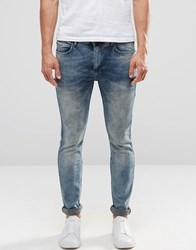 Religion Slim Fit Noize Jeans In Opium Wash Opium Wash Blue