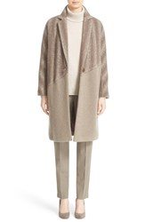 Lafayette 148 New York Women's 'Magnolia' Ombre Herringbone Coat