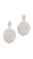 Aurelie Bidermann Lace Earrings Silver