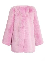 Gucci Fox Fur Coat Pink