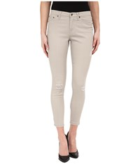 Hue Ripped Denim Skimmer Pebble Women's Jeans Beige