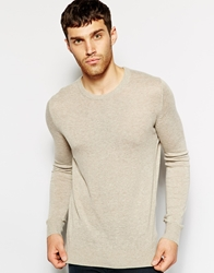United Colors Of Benetton Jumper With Crew Neck Beige