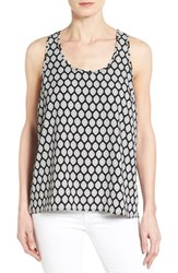 Women's Pleione Racerback Tank Black Mint Vintage Wallpaper
