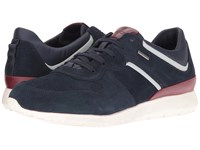 Geox Mgektorbabx4 Navy Dark Red Men's Shoes