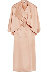 Stella Mccartney Frankie Silk Satin Trench Coat