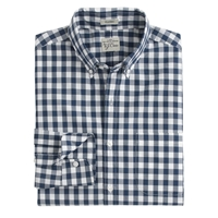 J.Crew Tall Secret Wash Shirt In Faded Gingham Vintage Navy