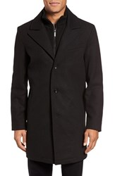 Kenneth Cole Men's New York Bib Inset Wool Blend Coat