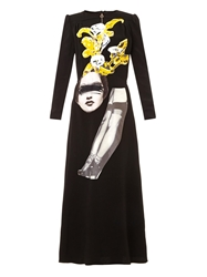 Carven Embellished Crepe Dress