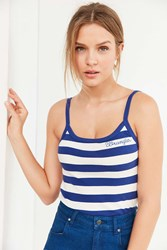 Wrangler Striped Tank Top Blue