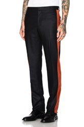 Givenchy Velvet Banded Trousers In Black