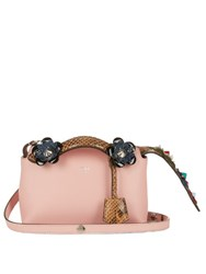 Fendi By The Way Mini Flower Applique Cross Body Bag Pink