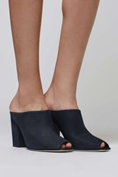 The Suede Mule By Boutique Navy Blue
