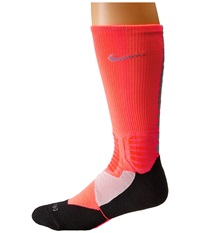 Nike Hyperelite Basketball Crew Hot Lava Dove Grey Dove Grey Men's Crew Cut Socks Shoes Pink