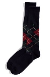 Men's Polo Ralph Lauren Argyle Socks Blue Navy