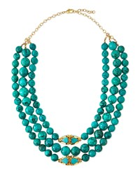Triple Strand Turquoise Necklace Blue Devon Leigh
