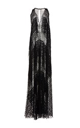 Maison Rabih Kayrouz Lace V Neck Evening Dress Black