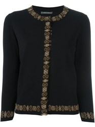 Alberta Ferretti Three Quarter Sleeve Cardigan Black