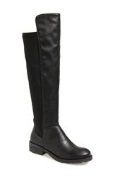 Mtng Originals 'Tess' Knee High Stretch Boot Women Black Synthetic Leather