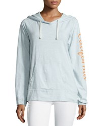 James Perse California Cotton Hoodie Sweatshirt Lucite V