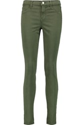 J Brand Mid Rise Skinny Jeans Army Green