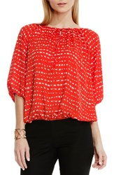 Women's Vince Camuto Peasant Blouse Fiery Red