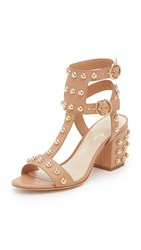 Isa Tapia Halo Studded Sandals Natural