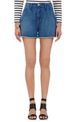 Frame Women's Denim Pleated Shorts Colorless