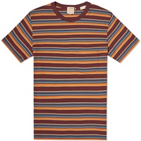Levi's Vintage Clothing 1960S Striped Tee Burgundy Blue And Orange