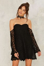 Ghost Town Crochet Lace Mini Dress Black