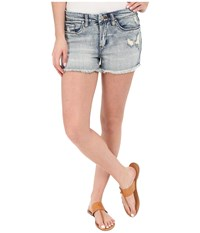 Blank Nyc High Rise Denim Distressed Shorts Denim Blue Women's Shorts