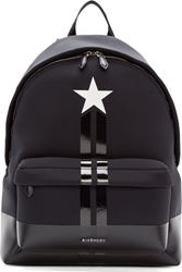 Givenchy Black Neoprene And Leather Star Backpack