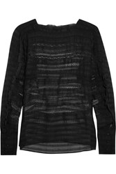 Isabel Marant Rivera Ruffled Organza And Lace Blouse Black