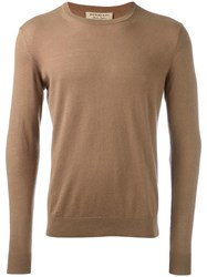 Burberry Checked Elbow Patch Sweater Nude Neutrals