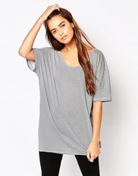 The Furies Uchi Striped Short Sleeve T Shirt Grey