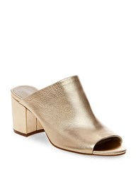 Steve Madden Infinity Leather Mules Gold