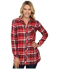 Kut From The Kloth Collin Red Burgundy Women's Long Sleeve Button Up
