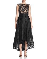 Js Collections Lace High Low Gown Black Nude