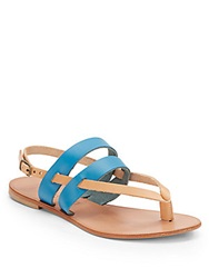 Joie A La Plage Positano Colorblock Leather Thong Sandals Sky Natural