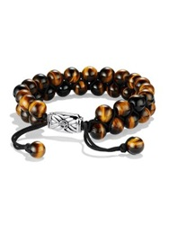 David Yurman Spiritual Beads Two Row Tiger's Eye Bracelet Tiger Eye
