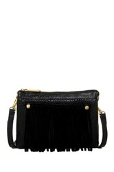 Ella Moss River Leather Crossbody Black