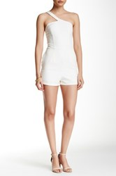 Tea And Cup One Shouldres Sexy Romper White
