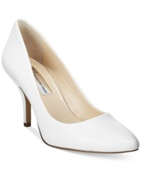 Inc International Concepts Womens Zitah Pointed Toe Pumps Only At Macy's Women's Shoes Bright White Leather